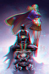 Batgirl and Supergirl by Mike S. Miller Relief 3D by Fan2Relief3D