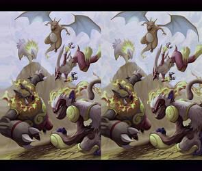 Pokemons I Cross View 3D by Fan2Relief3D