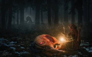 The killer is near... by IGORTOKAR