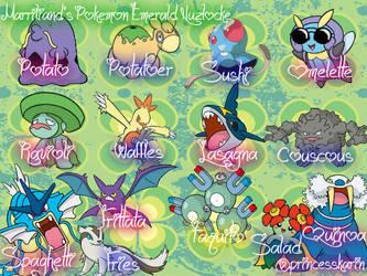 Marriland's Emerald Nuzlocke's Pokemon by PrincessKarinKoopa28
