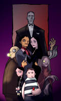the addams family colored by callyrose