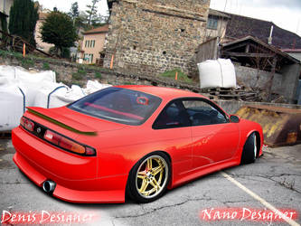 Nissan Silvia RED by GeovaneDesigner