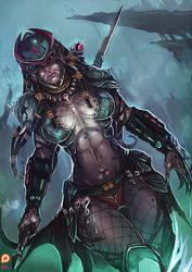 The Predator [Yautjana] by kachima