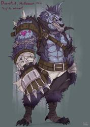 OVERWATCH : Werewolf Doomfist by kachima