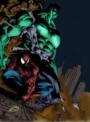 Hulk and spiderman by Joeadrianart