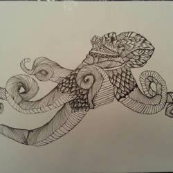 octopus doodle by Joeadrianart
