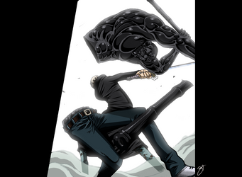 One Piece 690_Law vs Vergo by MadBax