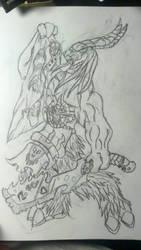 Beastmen basic sketch by thepoweroflogic