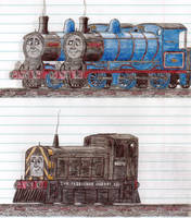 Schoolbook Sketches- Donald, Douglas and Mavis by 01Salty
