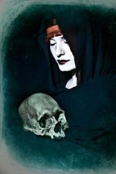 Self-Portrait with Skull by TheVenomousSwan