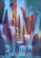 Waterfall Treasure by BlindFoxy