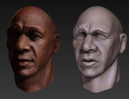 Zbrush male sculpt by PatrickvanR