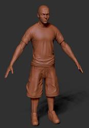 Eminem Zbrush sculpt by PatrickvanR