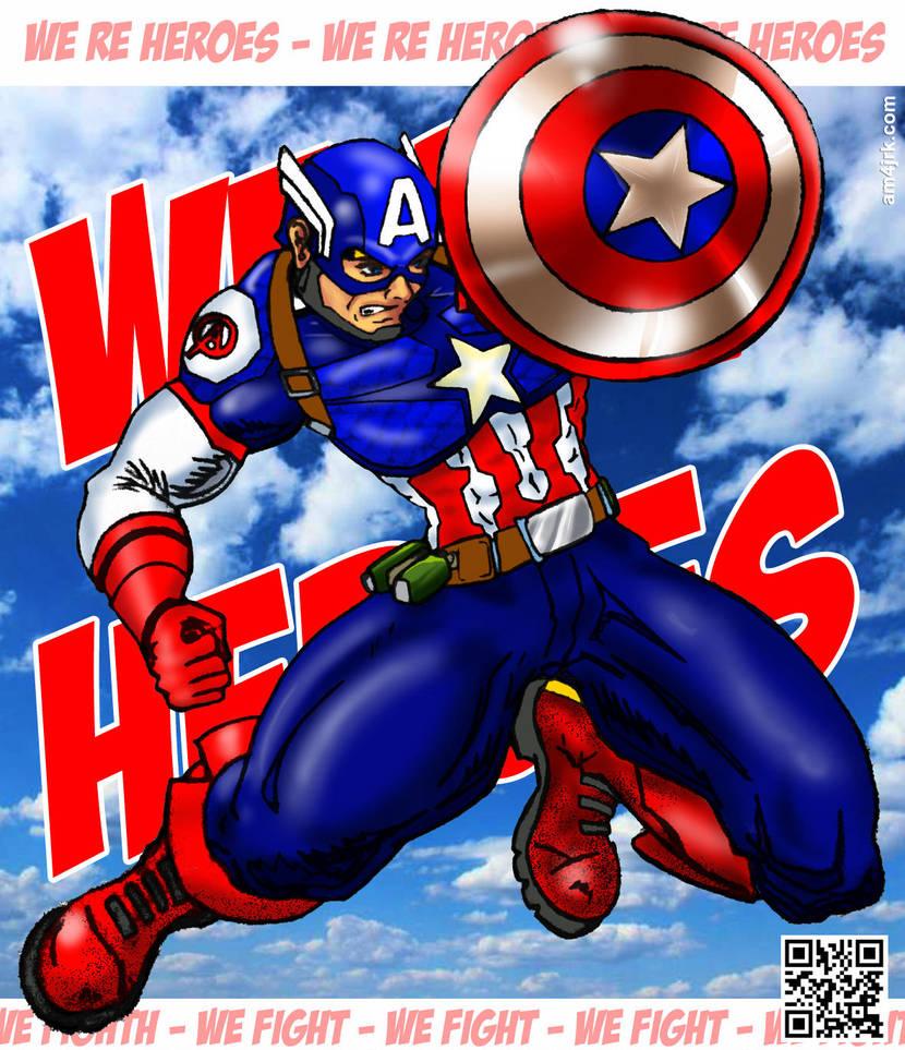 Cap-America Heroes by am4jrk on DeviantArt 6d4856df4af