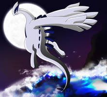 _.Lugia - King of the Sea._ by Metros2soul