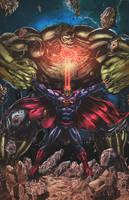 Superman Vs Hulk Colors by nahp75