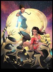Geek Girl and Shuri free print by nahp75