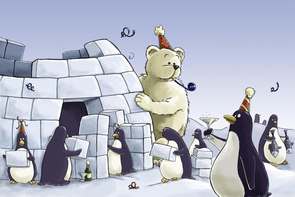 Penguin new year by joriavlis