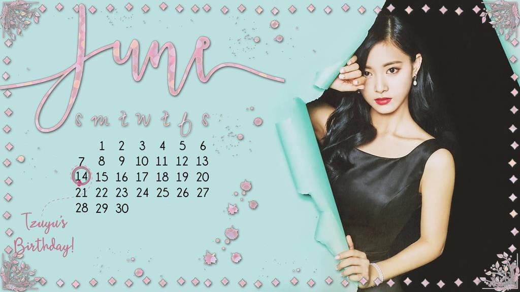 Twice Tzuyu June Computer Background Calendar By Misscatievipbekah
