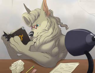 Studious Werewolf by darkumbreon09