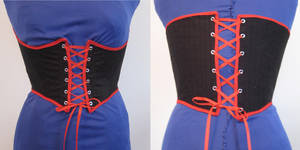 black + red corset by SerenadeStrong