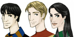 The Snape siblings by JosieCarioca