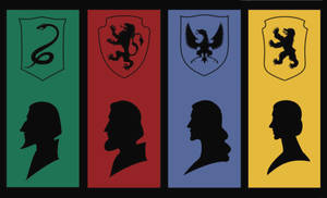 Hogwarts Founders by JosieCarioca