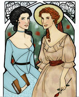 SnowWhite and RoseRed for MaryAnneLeslie by JosieCarioca