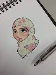 Flower Hijabi by finieramos
