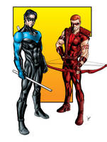 Nightwing and Red Arrow by DCU-Club