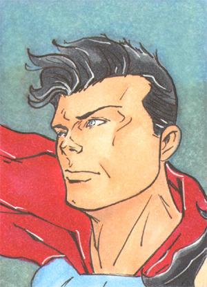 Superman Skech Card 1of3 by DCU-Club