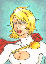 Power Girl Sketch Card by DCU-Club