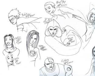 Teen Titans Ink: chougousenki by DCU-Club