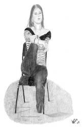 Simone Portrait Study by Khima-Inez