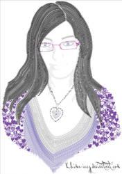 Typography Self-Portrait by Khima-Inez