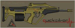 Quicksilver Industries: 'Sabretooth' Assault Rifle by Shockwave9001