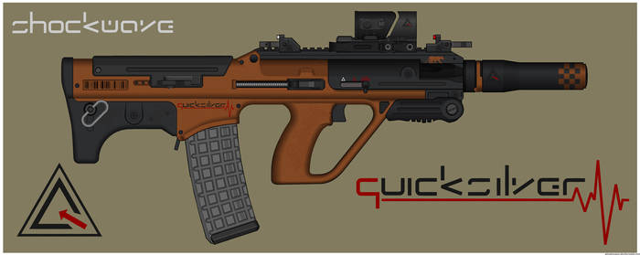Quicksilver Industries: 'Iriomote' Assault Rifle by Shockwave9001