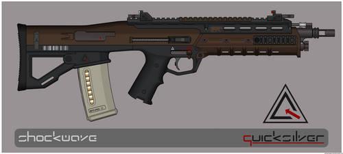 Quicksilver Industries: 'Sunda' Assault Rifle by Shockwave9001