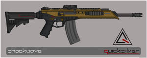 Quicksilver Industries: 'Alopex' Assault Rifle by Shockwave9001