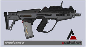 Quicksilver Industries: 'Stingray' Multi-Cal Rifle by Shockwave9001