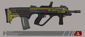 Quicksilver Industries: 'Hyrax' Assault Rifle by Shockwave9001