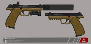 Quicksilver Industries: 'Meerkat' Tactical Pistol by Shockwave9001