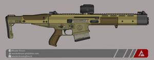 Quicksilver Industries: 'Desert Fox' Battle Rifle by Shockwave9001