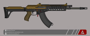 Quicksilver Industries: 'Ringtail' Assault Rifle by Shockwave9001