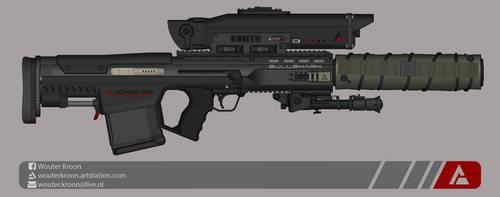 Quicksilver Industries: 'Bullshark' Sniper Rifle by Shockwave9001