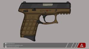Quicksilver Industries: 'Civet' Tactical Pistol by Shockwave9001