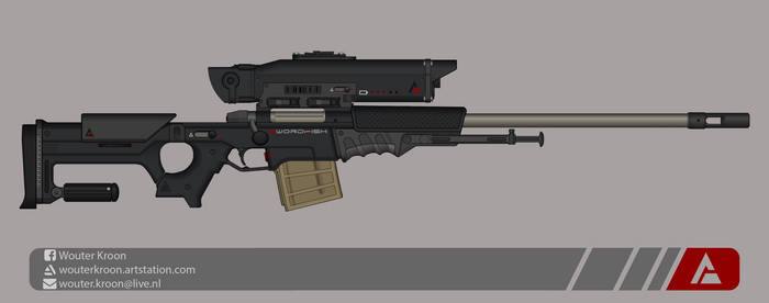 Quicksilver Industries: 'Swordfish' Sniper Rifle by Shockwave9001