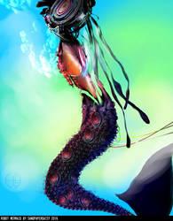 Robot Mermaid by sandpaperdaisy
