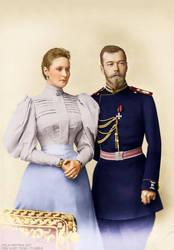 Nicholas and Alexandra in 1895. by TsarinaAlix