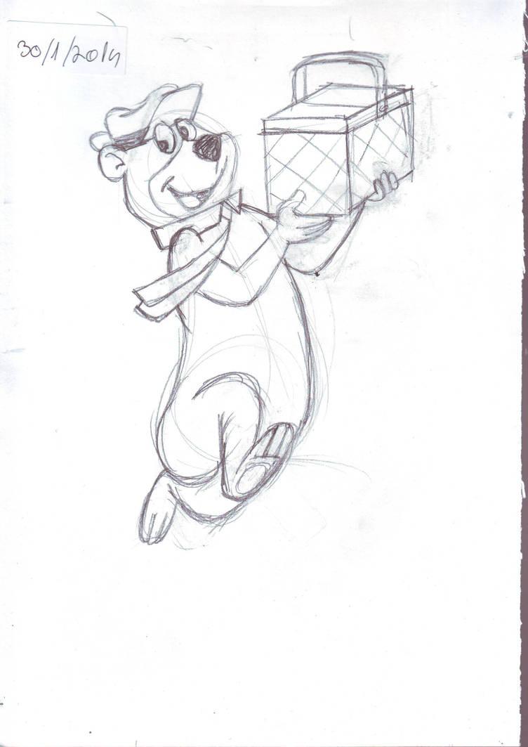 Yogi bear sketch for speed drawind by IDROIDMONKEY